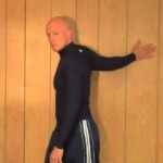 Arm on Wall Stretch 150x150 List of Stretches and Routines
