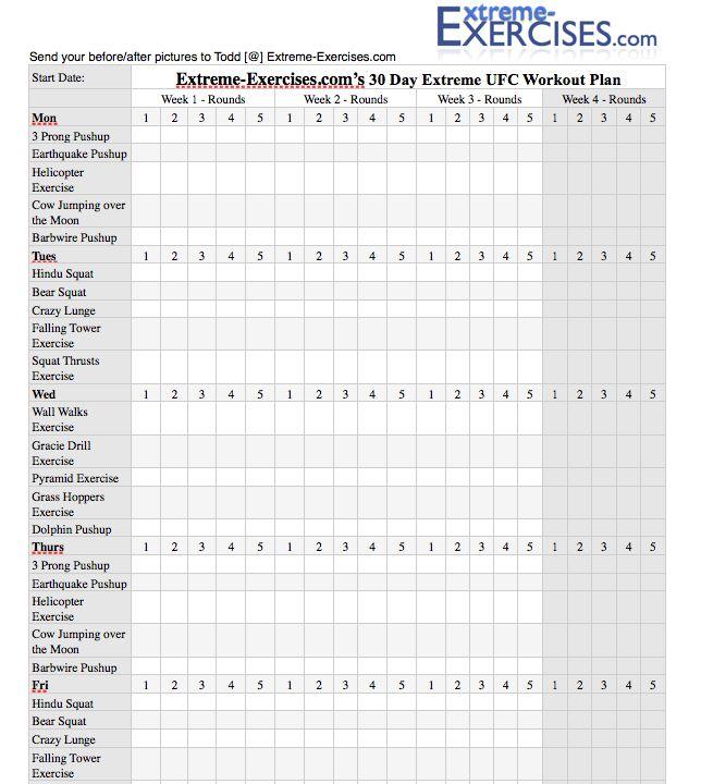 30 Day Exercise Workout Calendar | New Calendar Template Site