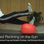 advanced reclining on the sun