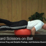 downward scissors on ball