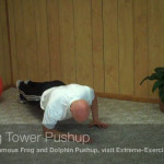 eaning tower pushup