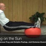 reclining on the sun