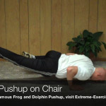 spider pushup on chair