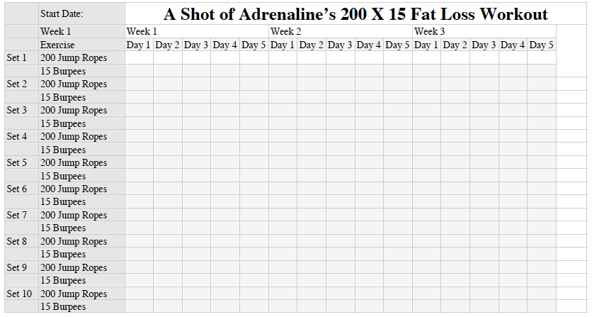 how to lose 2 body fat in 3 weeks workout sheet