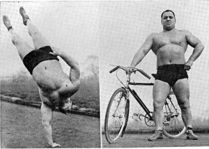 old school bodyweight master Bert Assirati