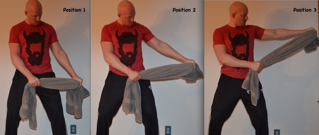 lateral raise towel isometrics