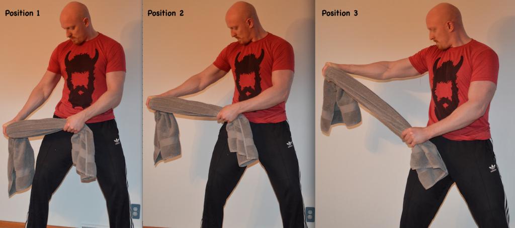 lateral raise towel isometrics