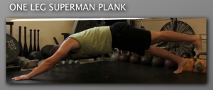 One Leg Superman Plank