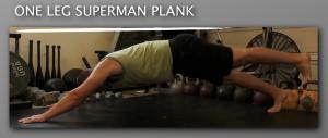 One Leg Superman Plank progression