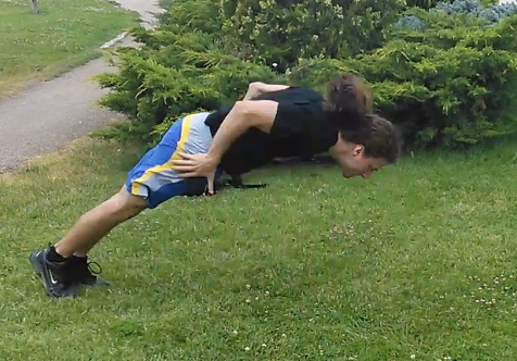 Side Touch Pushups
