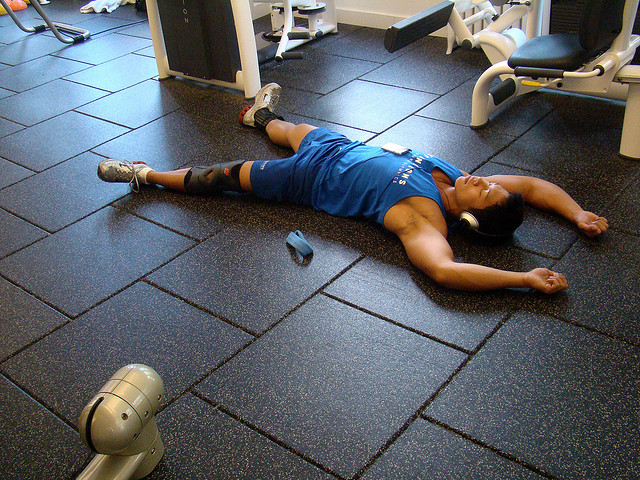 tired after bodyweight circuits