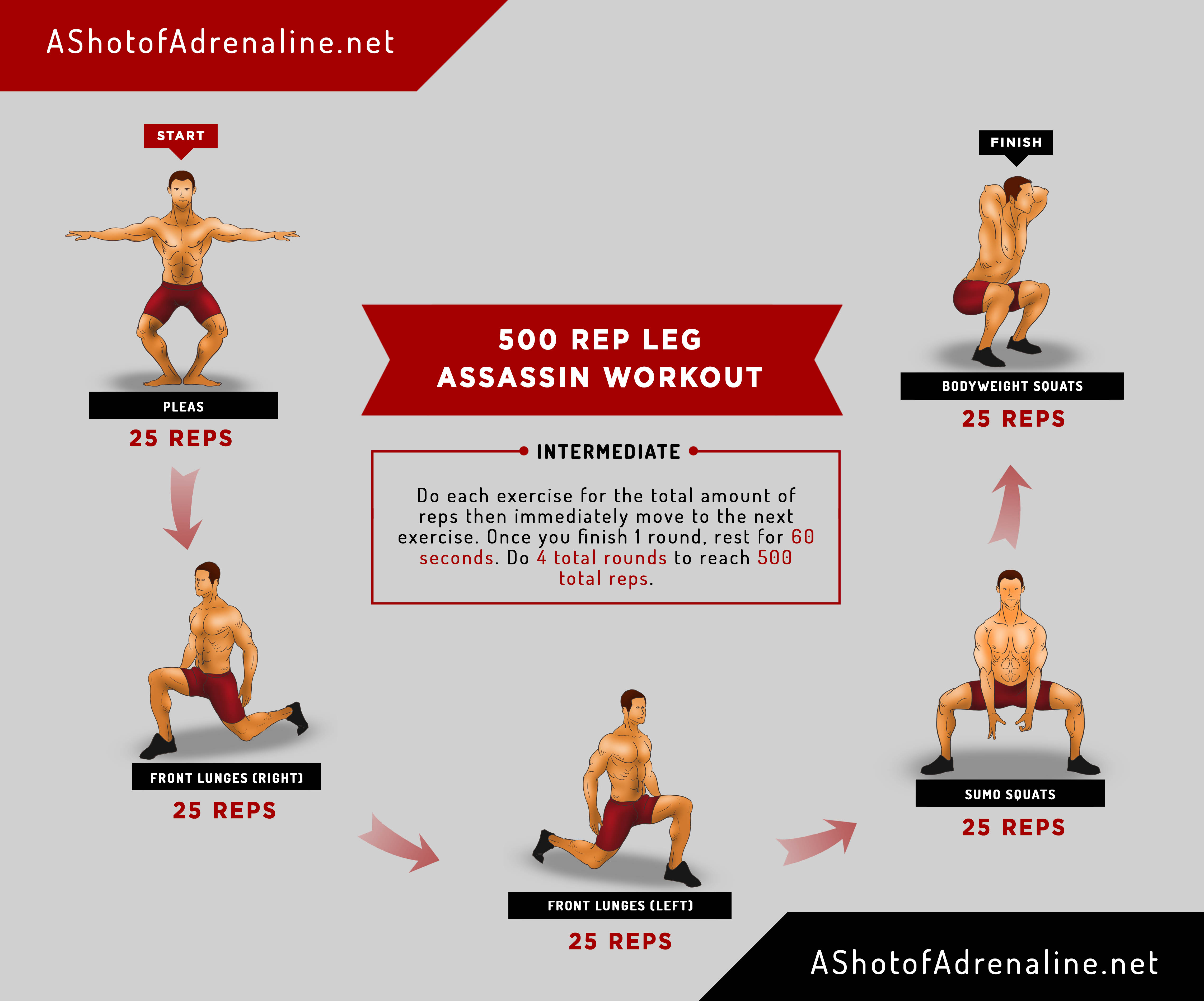 500 Rep Leg Assassin Workout 1