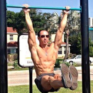 Mark Lauren hanging leg raise