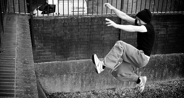 parkour workout exercise