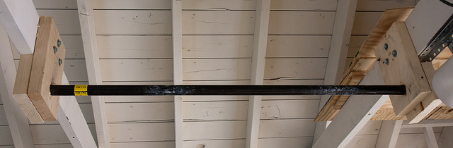 Garage pull-up bar
