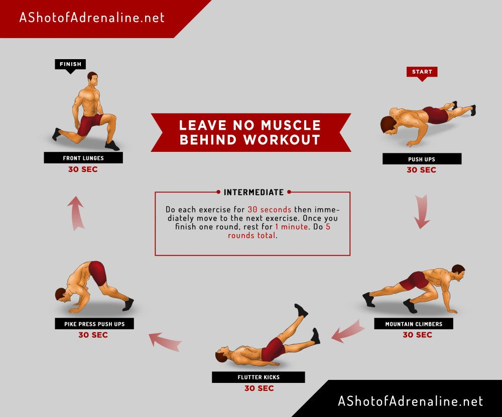 Leave No Muscle Behind Workout infographic
