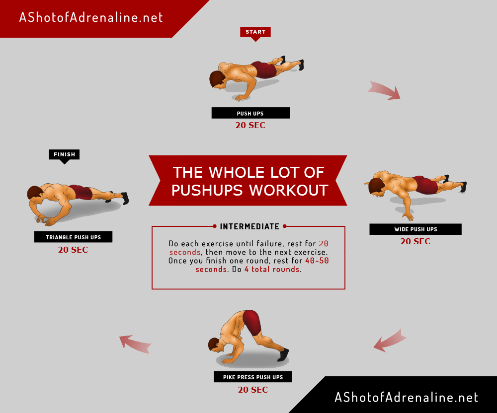 The whole Lot Of Push Ups Workout