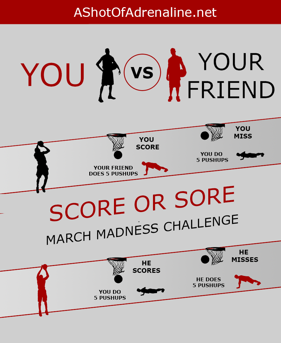 Score Or Sore: The March Madness Pushup Challenge - Body Weight And