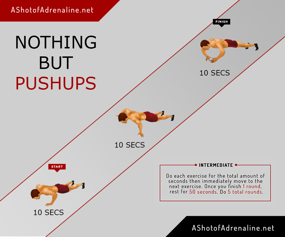 nothing but pushups
