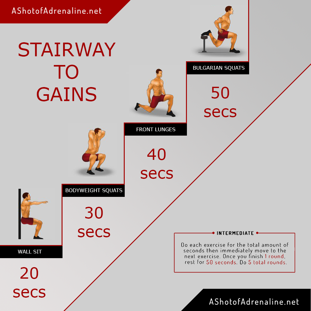 the stairway to gains calisthenics workout
