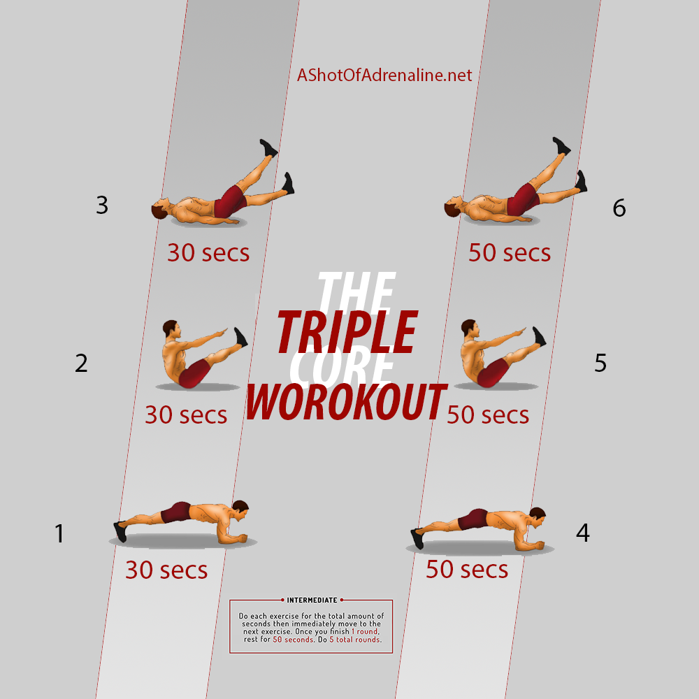 triple core workout