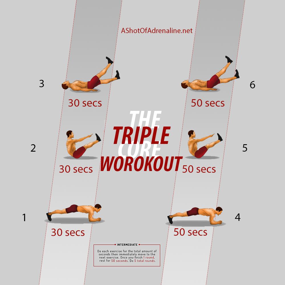 triple core workout