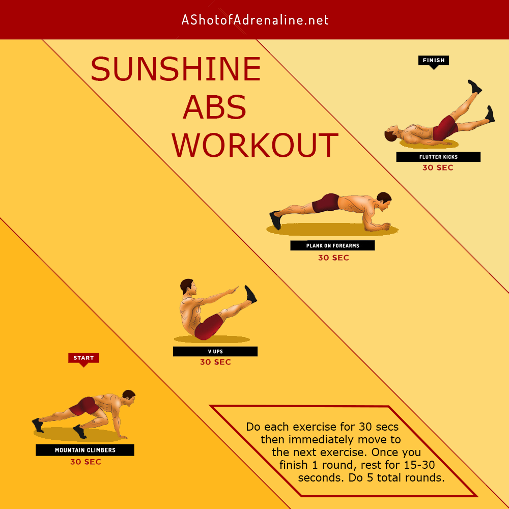 the sunshine abs calisthenics workout