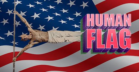 Human Flag: Patriotic Gains