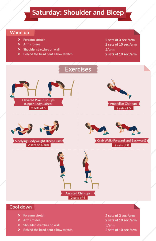 level 1 shoulder and bicep infographic
