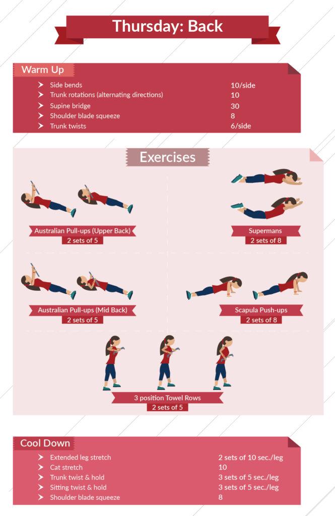 level 1 back infographic