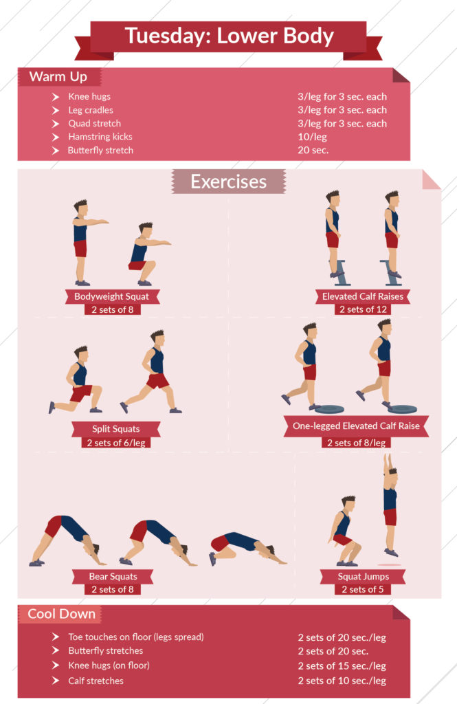 level 2 lower body infographic