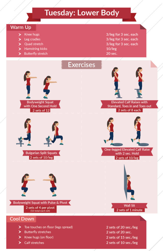 level 3 lower body infographic